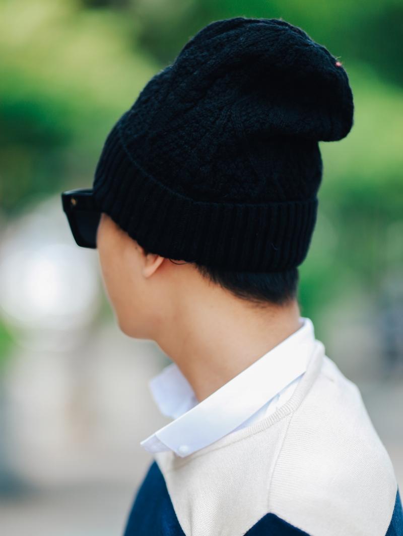 Nón len đen n353 - 3