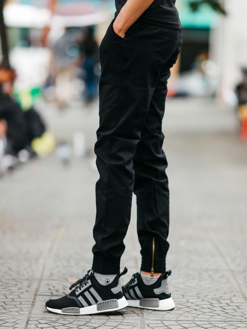 Quần jogger kaki đen j06 - 2