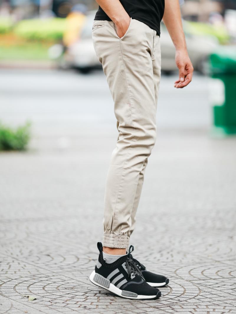 Quần jogger kaki kem j06 - 2