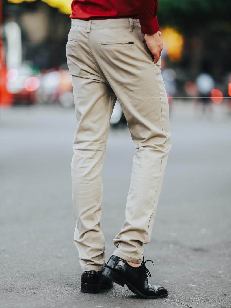 Quần kaki màu kem qk163 - 3