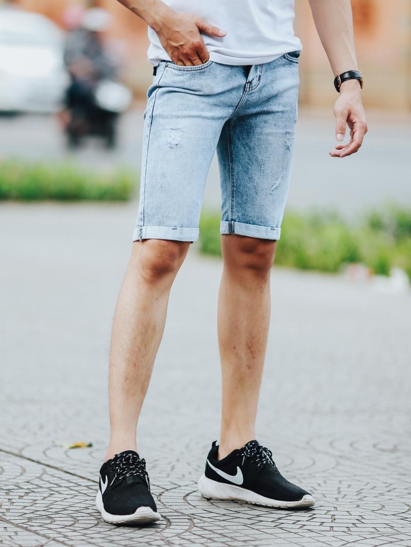 Quần short jean xanh qs92 - 1