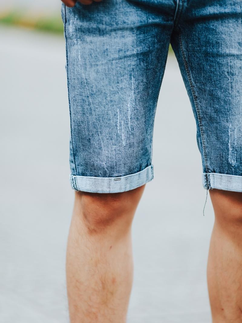 Quần short jean xanh qs93 - 3