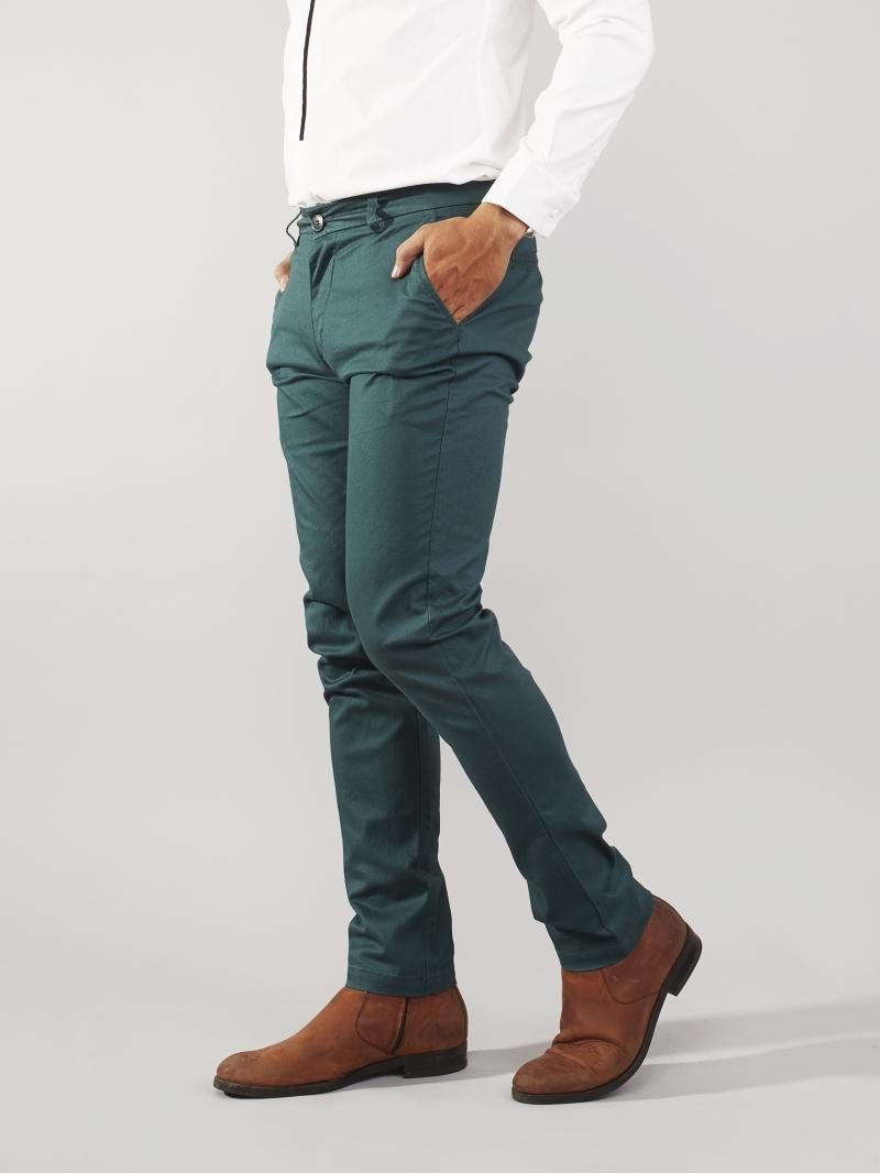 Quần kaki xanh lá cây qk162 - 2