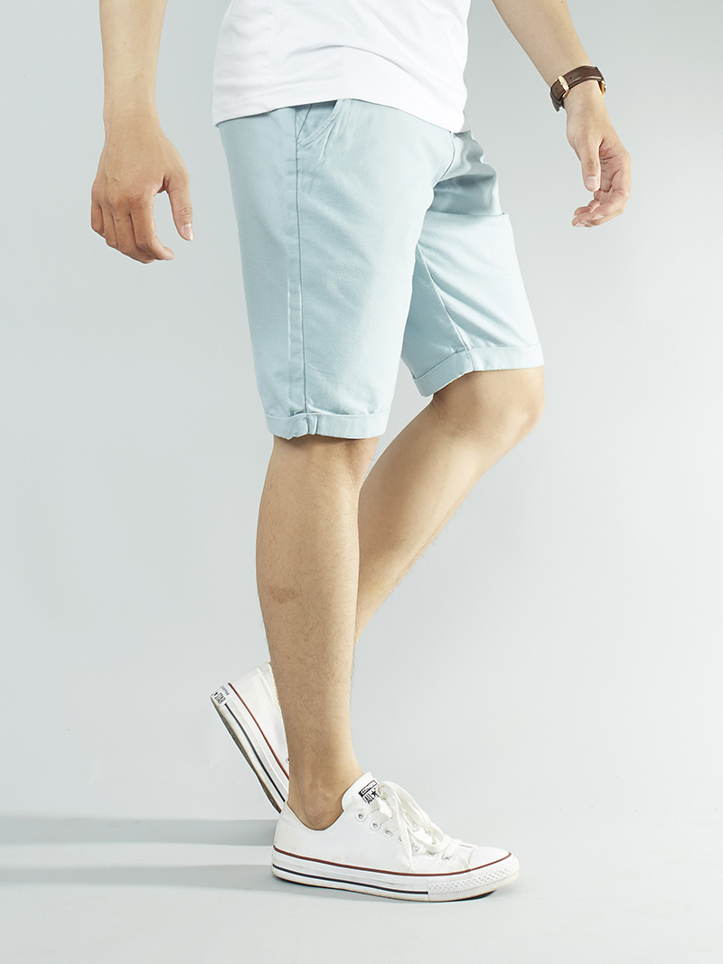 Quần short kaki xanh da trời qs101 - 2