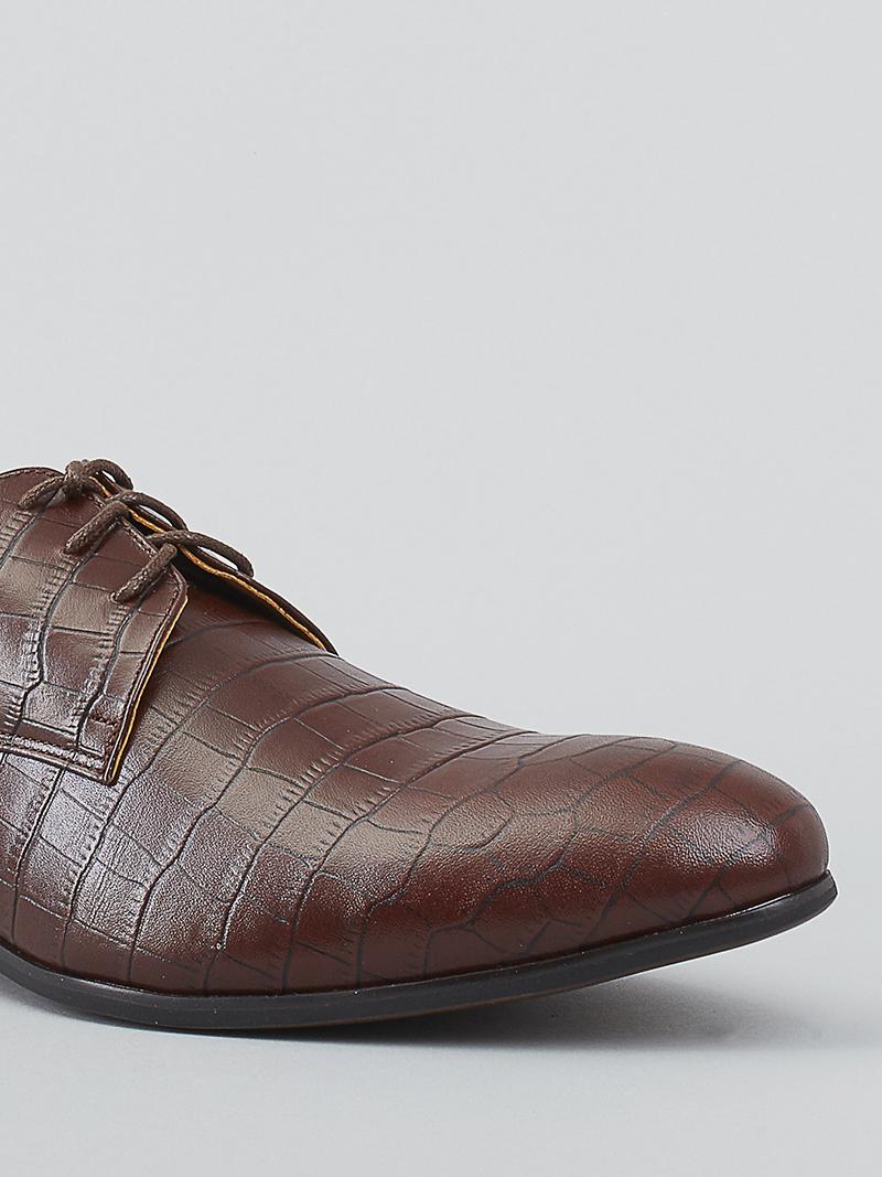 Giày tây da nâu g93 - 4