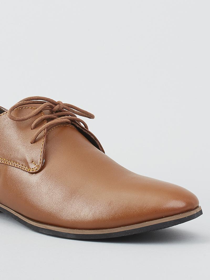 Giày tây tăng chiều cao màu bò g124 - 4