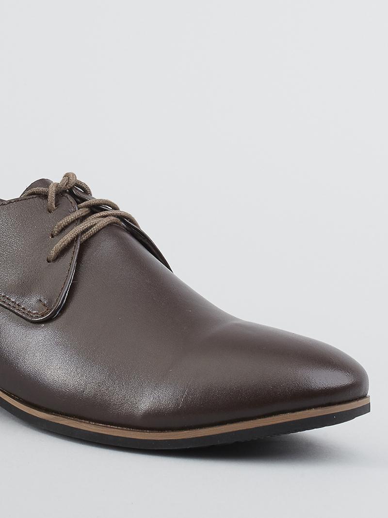 Giày Tây Tăng Chiều Cao Nâu G124