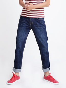 Quần Jeans Ống Đứng Xanh Đen QJ1519