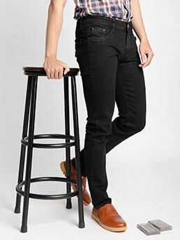 Quần Jeans Ống Đứng Đen QJ1526