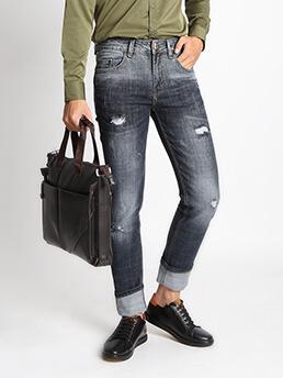 Quần Jeans Ống Đứng Đen QJ1528
