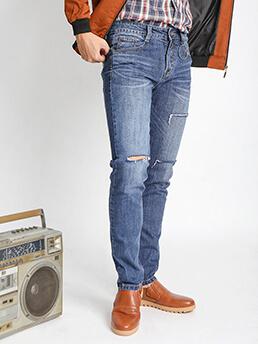 Quần Jeans Rách Xanh Dương QJ1536