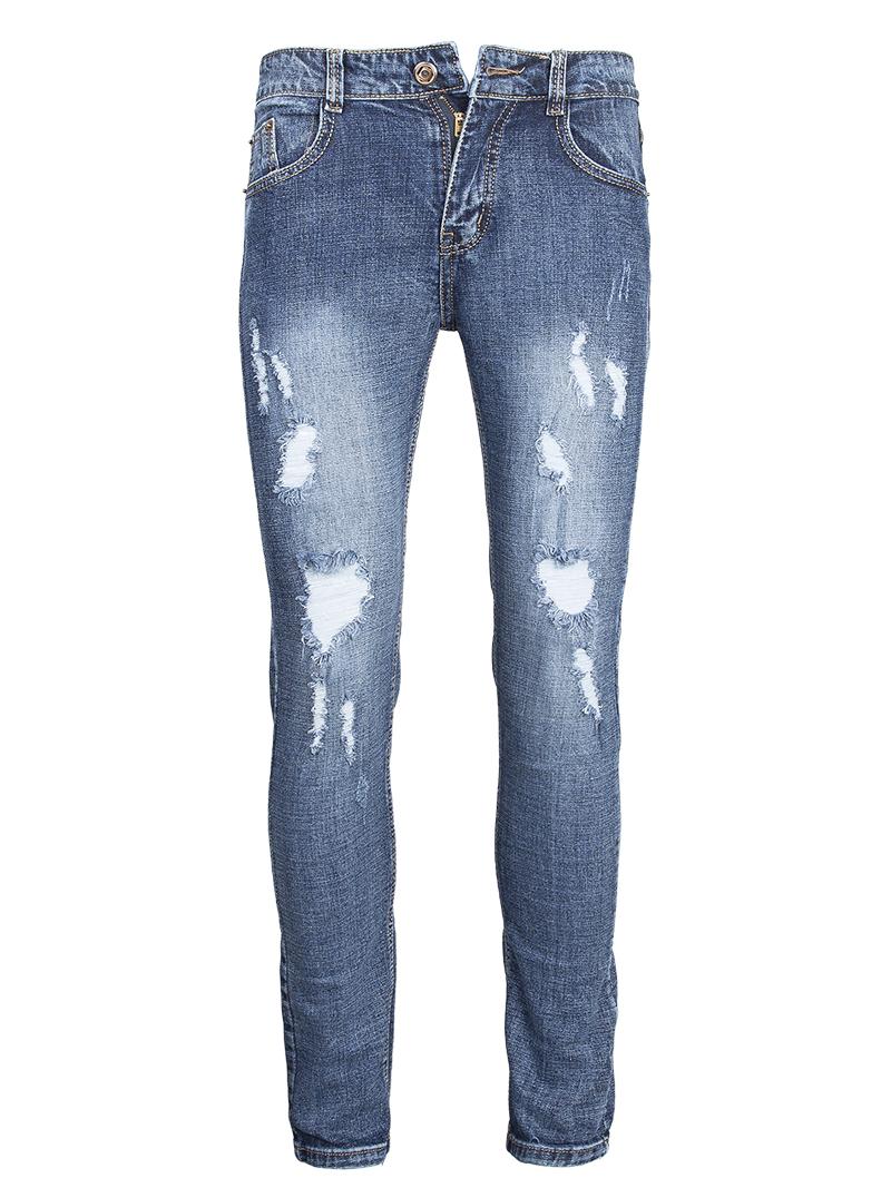 Quan Jeans Rach Xanh Den QJ1564