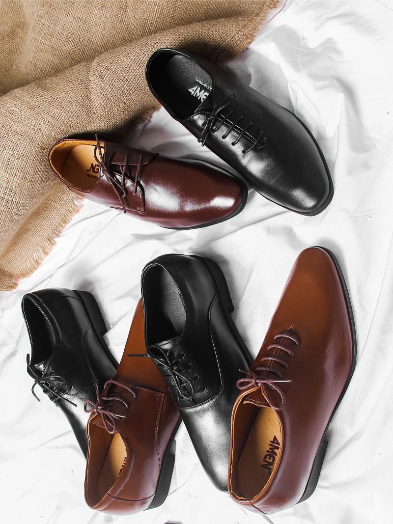 Giày Tăng Chiều Cao Nâu G202
