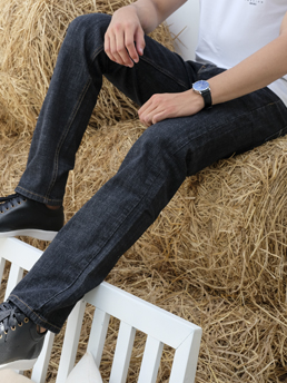 Quần Jeans Ống Đứng Xanh Đen QJ1596