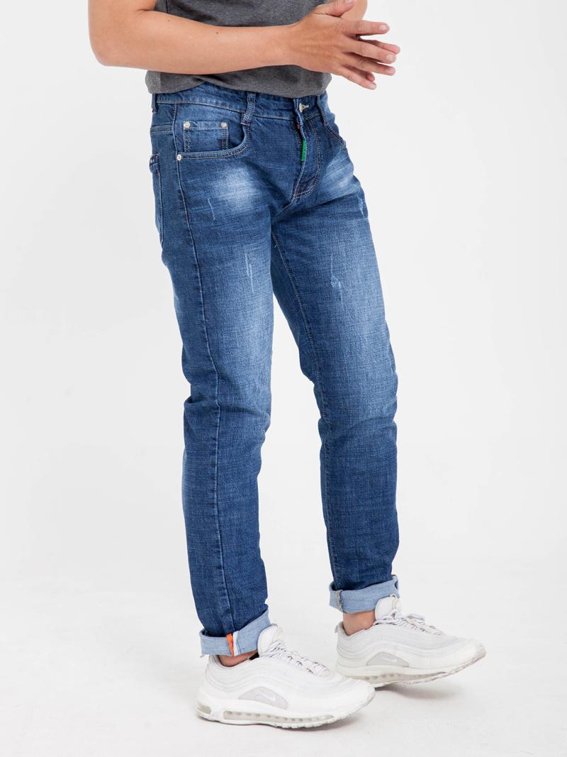 Quan Jeans Skinny Xanh Den QJ1612