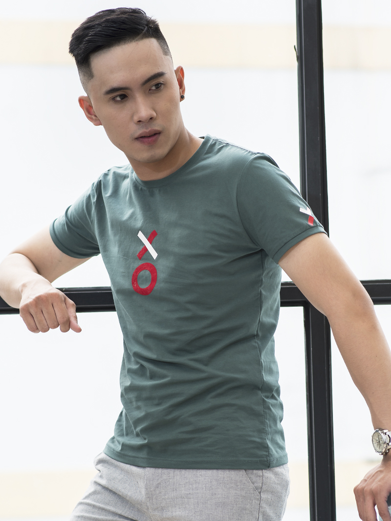 Ao Thun Xanh Co Vit AT788