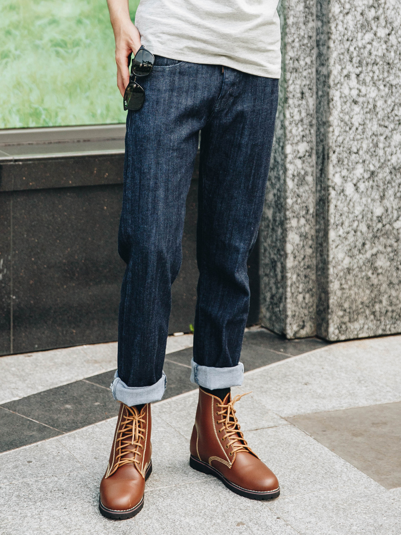 Quần Jeans Ống Đứng Xanh Đen QJ1623
