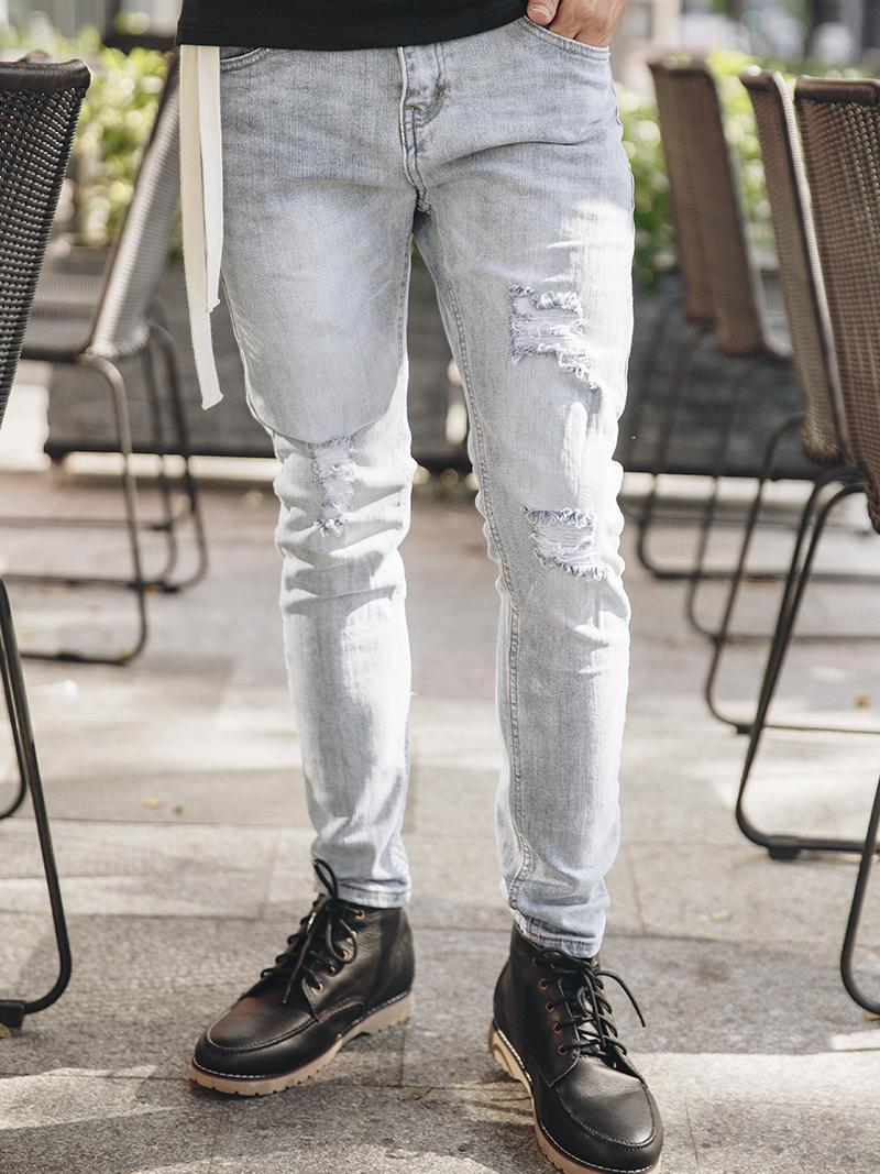 Tận dụng xu hướng thời trang tuyệt đẹp cùng quần jean rách nam - 260093