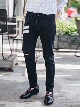 Quần Jeans Rách Đen QJ1615