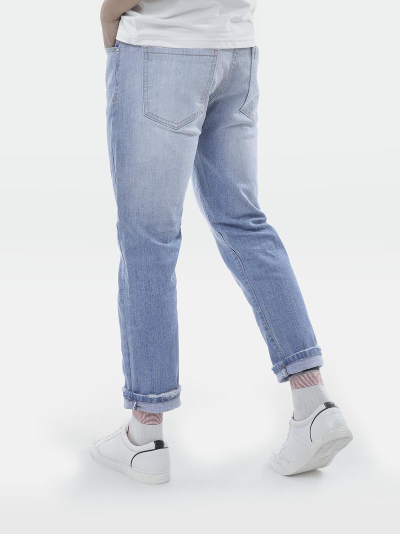 Quần Jean Slim Cropped Rách Gối QJ1649