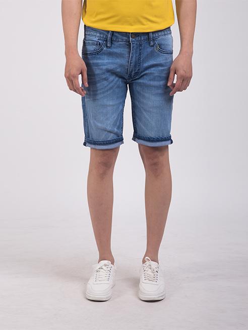 Quần Short Jean Slimfit Màu Xanh Biển QS203