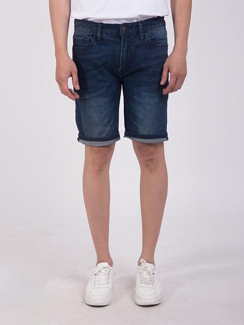 Quần Short Jean Slimfit QS203 Màu Xanh Đen