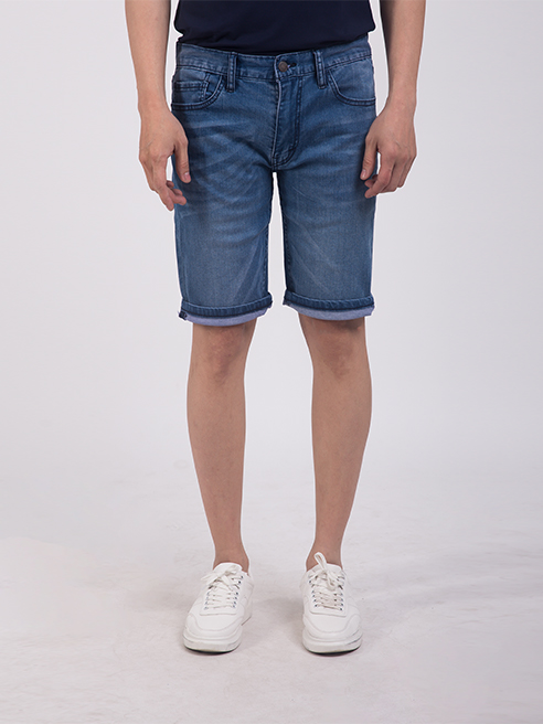 Quần Short Jean Slimfit Màu Xanh Biển Đậm QS203