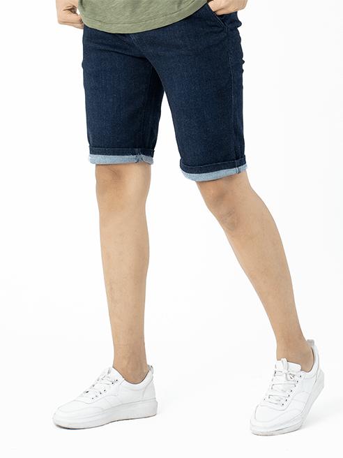 Quần Short Jean Lưng Thun QS202 Màu Xanh Đen