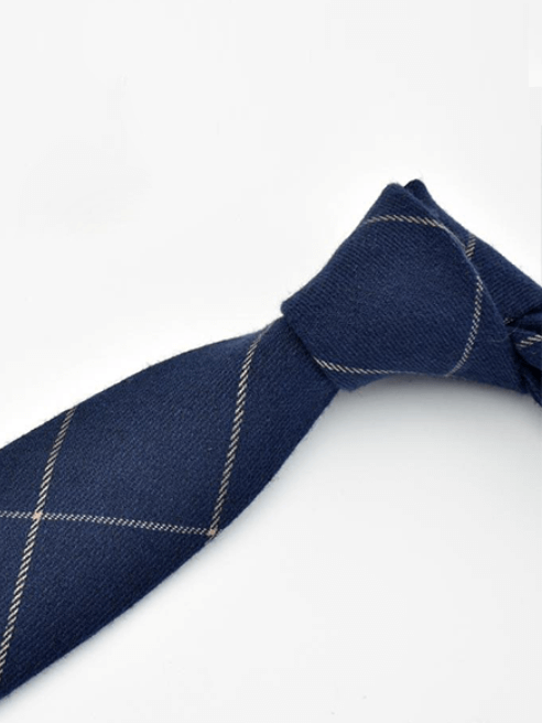 Cà Vạt Caro CV012 Màu Xanh Đen