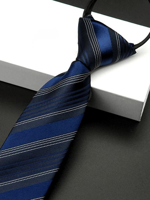 Cà Vạt Sọc CV008 Màu Xanh