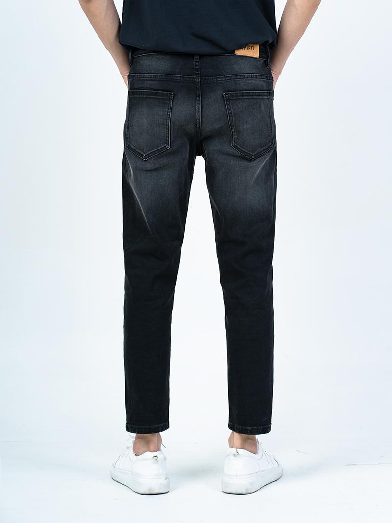 Quần Jeans Gối Wash Sáng QJ005 Màu Đen