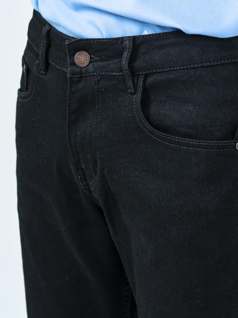 Quần Jeans Rách Gối QJ003 Màu Đen