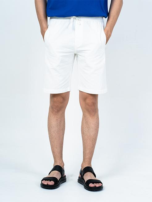 Quần Short Linen Lưng Thun QS004 Màu Trắng