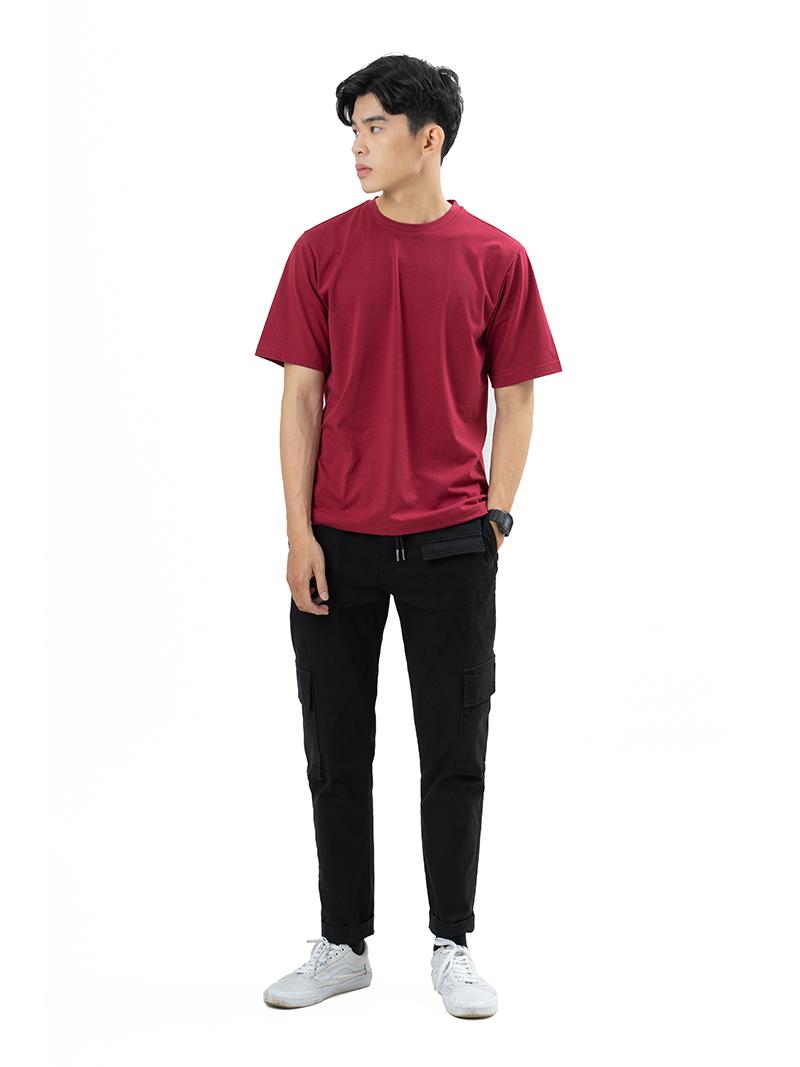 Áo Thun Trơn Căn Bản Form Regular AT017 Màu Đỏ