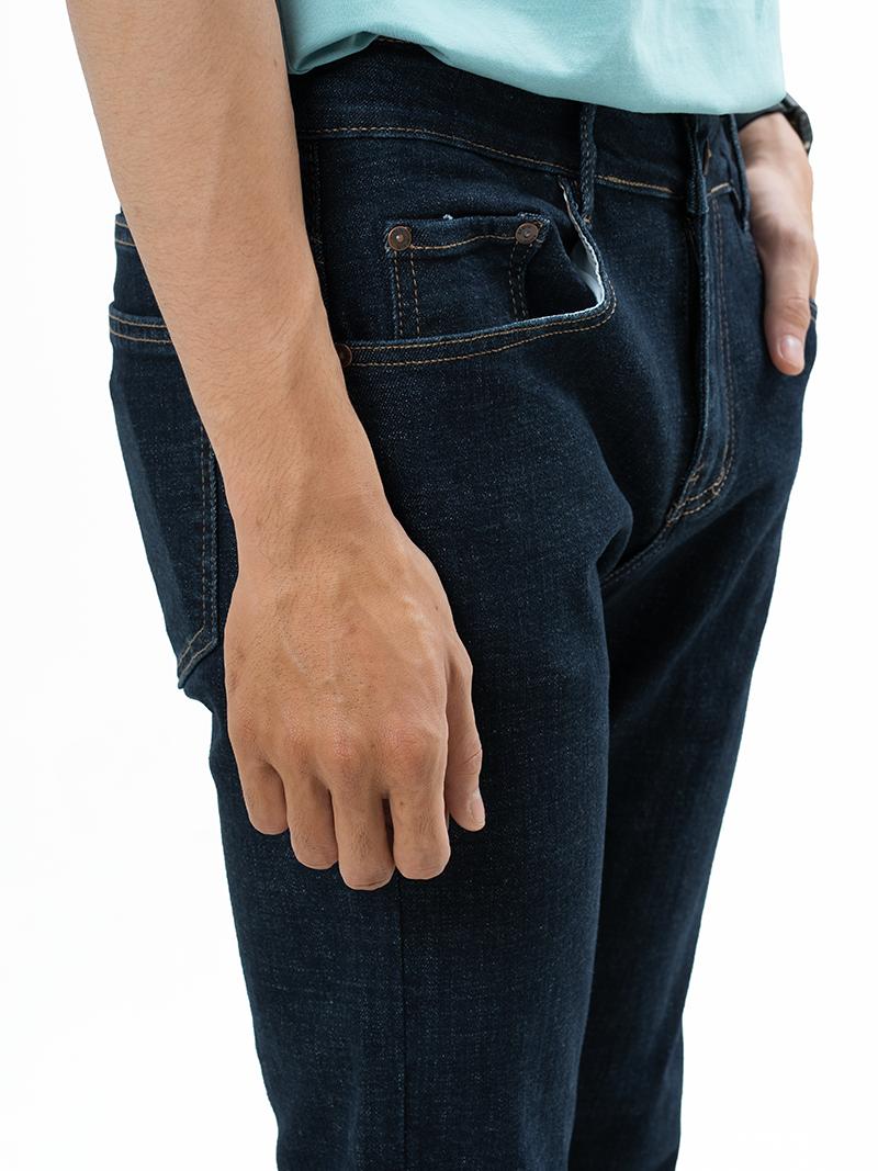 Quần Jeans Căn Bản Form Slimfit QJ006 Màu Xanh Đen