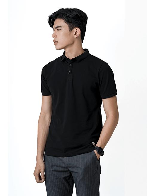 Áo Thun Polo Tay Bo AT855 Màu Đen