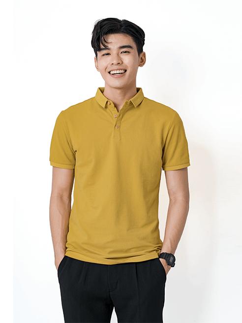 Áo Thun Polo Tay Bo AT855 Màu Vàng