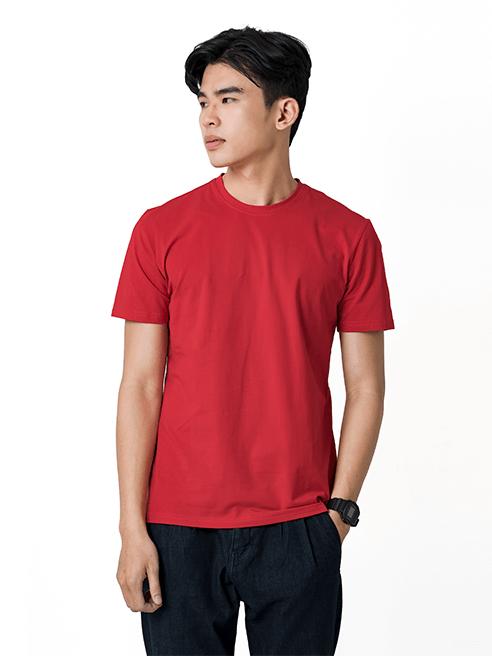 Áo Thun Trơn Căn Bản Form Slimfit AT018 Màu Đỏ Cam