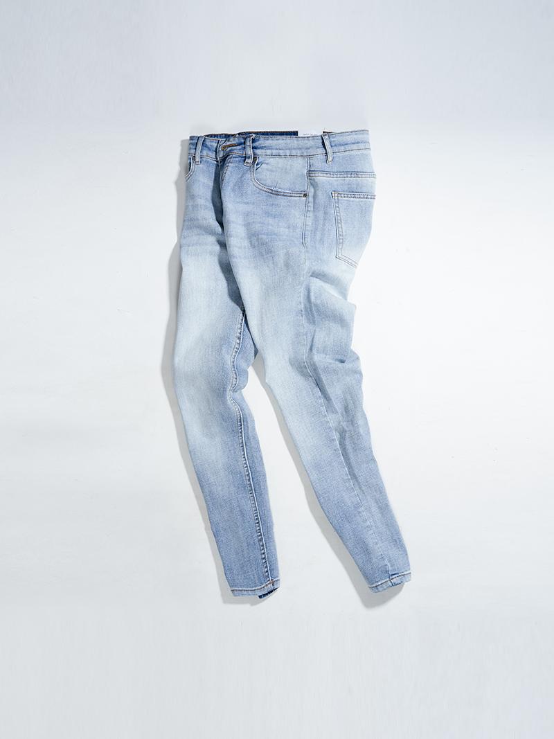 Quần Jeans Trơn Form Regular QJ019 Màu Xanh