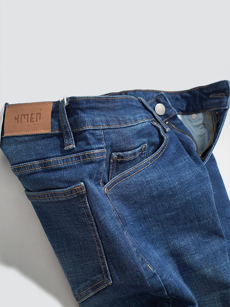 Quần Jeans Rách Gối Form Slimfit QJ016 Màu Xanh