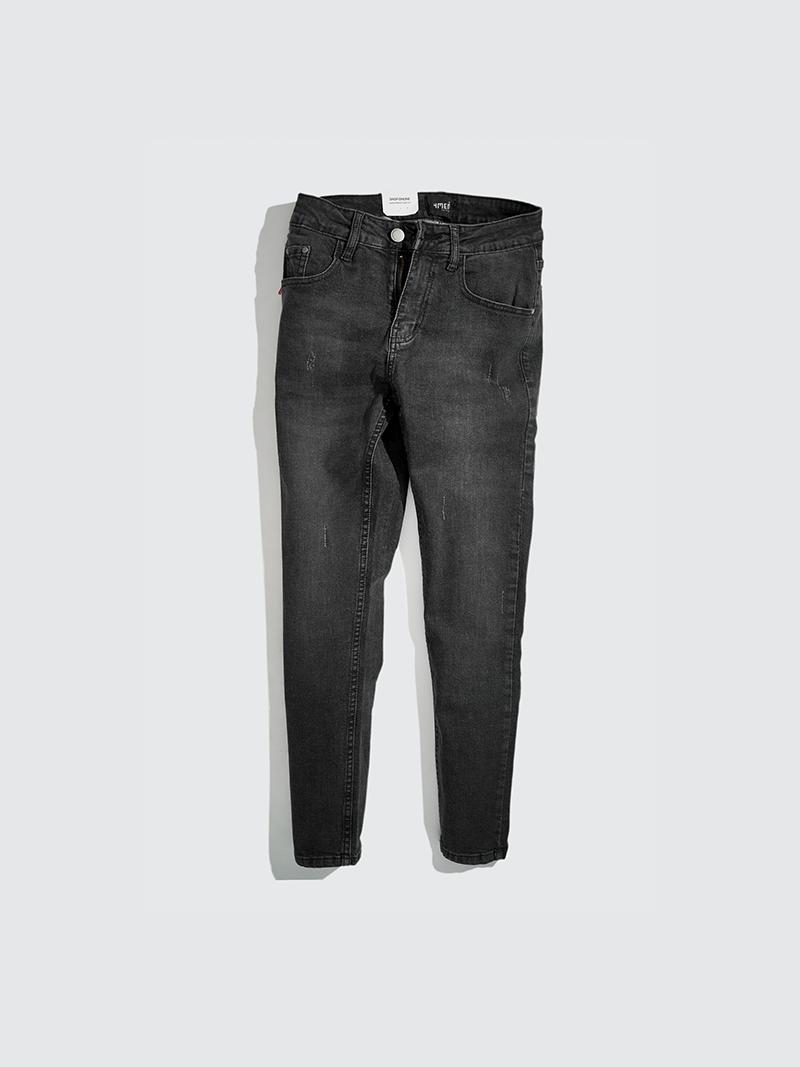 Quần Jeans Xước Form Slimfit QJ013 Màu Xám Chuột
