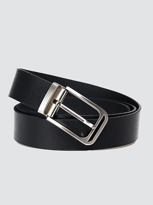 Thắt lưng đầu kim da trơn màu đen TL071
