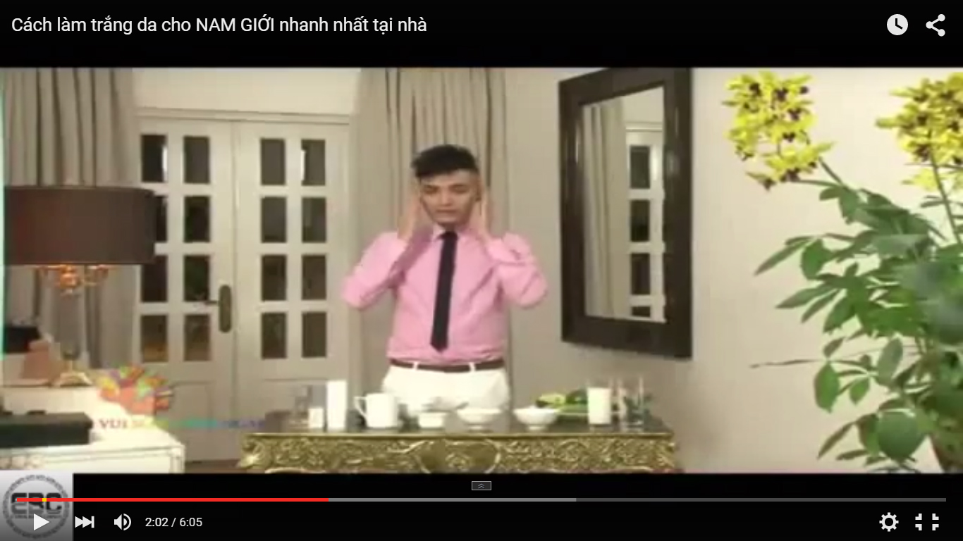 Cách làm trắng da cho NAM GIỚI nhanh nhất tại nhà