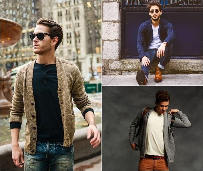 Gợi ý cách mặc áo khoác cardigan đẹp cho các quý ông