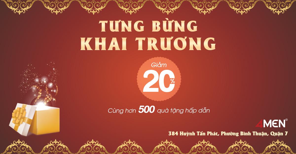 4MEN tưng bừng khai trương Chi nhánh mới tại 384 Huỳnh Tấn Phát