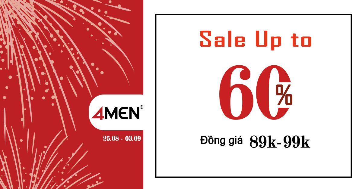 Lễ 2/9 - Đồng giá 89K-99K, Sale Up to 60% toàn hệ thống