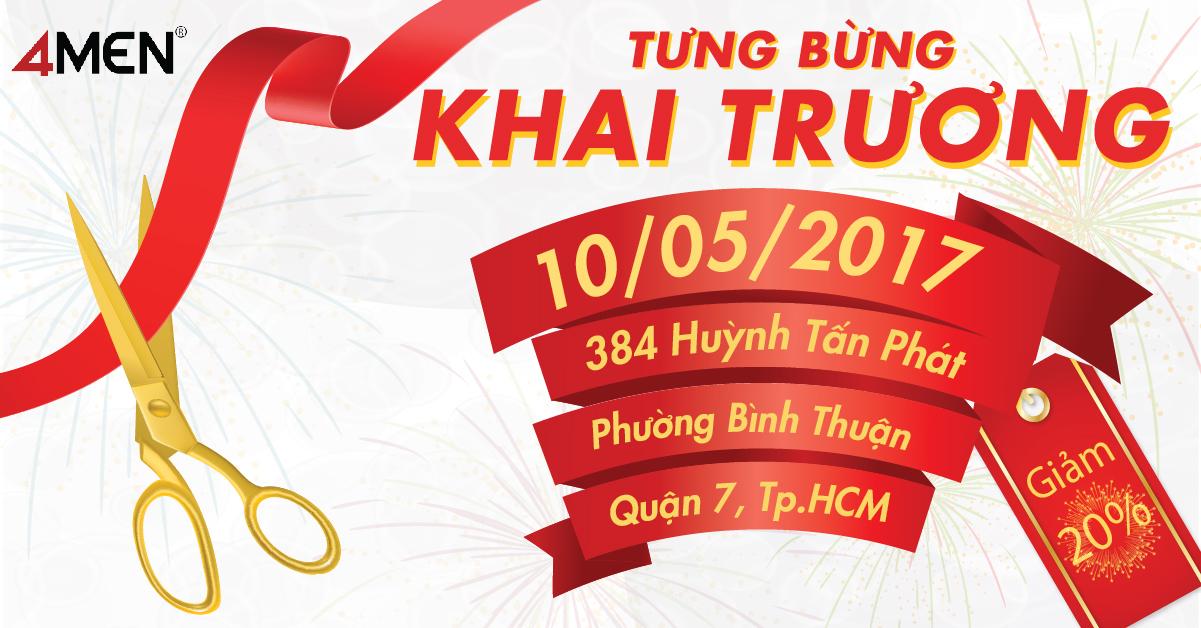 4MEN chuẩn bị khai trương Chi nhánh mới tại 384 Huỳnh Tấn Phát