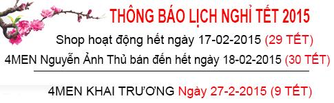 Thông báo nghỉ lễ Tết âm lịch 2015