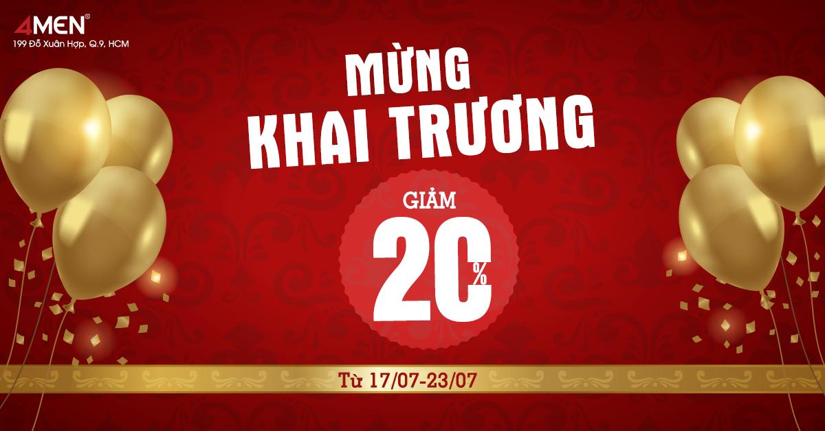 """TƯNG BỪNG KHAI TRƯƠNG """"4MEN QUẬN 9"""""""